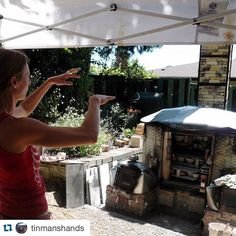 Repost @tinmanshands with @repostapp.  careen stoll directing a past loading of the tin man kiln. we will soon be loading again! www.tinmanshands.org for more info by woodfiredpotterykilns