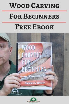 Get a copy of my free 120 ebook on wood carving. You'll learn safety tips, concepts, techniques, tools and more. Includes 7 easy-to-make projects. This overview video will share more about the book and how to get a copy.
