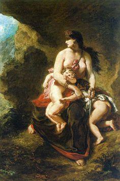 """""""Médée"""" de Eugène Delacroix"""