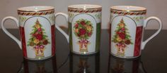 Royal Albert Old Country Roses Christmas  Seasons of Colour Mugs