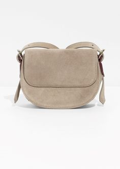 & Other Stories image 1 of Suede Crossover Bag  in Beige