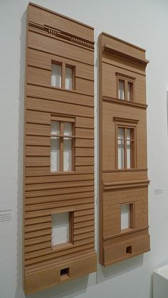 Models showing the existing facade (designed by Auguste Stuler) and the new facade (designed by David Chipperfield) of the Neues Museum in Berlin. - Поиск в Google