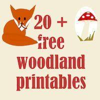 ☞ 20+ free woodland printables - Waldtiere Druckvorlagen - links   MeinLilaPark – DIY printables and downloads