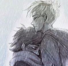 Solangelo - art is GORGEOUS but Will doesn't have hair so straight and feathery