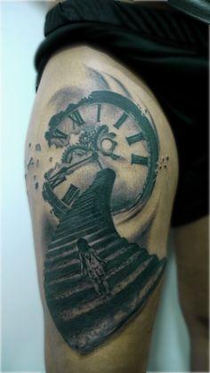 #dream #dreamtattoo #clock #clocktattoo #tattoo #amazing #artskin #artskintattoo #federiconicolaci