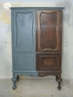 """Beautiful before and after painted in """"Barn Door"""" Chalky Paint 