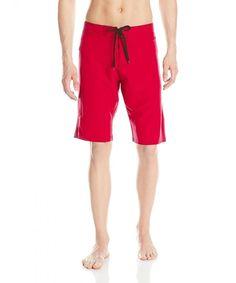 bf2c131847 Men's Ripped Dobby Stretch Boardshort - Red - CM11UCD0XYF,Men's Clothing,  Swim, Board