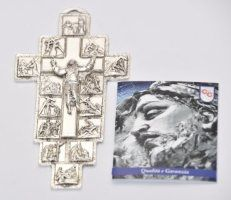 14 Stations of the Cross Metal Wall Plaque. Crucifixion Of Jesus, Our Lady Of Lourdes, Christian Religions, Maltese Cross, Wall Crosses, Easter Gift, Wall Plaques, First Love, Metal