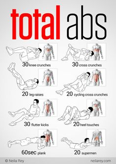 Total Abs Workout. That's what I do... Warning: planks are the hardest for newbies. #abs #workout  Get Sexy Abs with our simple Workout on our website