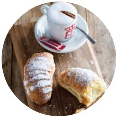 """""""Coffee has the power to transport you from the mundane to the memorable,"""" says Darren Levy, CEO of Bacon Egg, Coffee Is Life, Freshly Baked, Croissant, Best Coffee, Cravings, How To Memorize Things, Menu, Breakfast"""