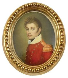 19th century miniture portrait on ivory of an officer
