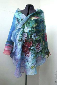 Nuno Felted scarf Felted scarflarge scarf Felted Shawl