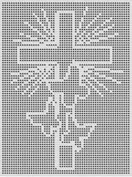 Resultado de imagem para scenes croche filet Crochet Patterns Filet, Crochet Cat Pattern, Crochet Lace Edging, Crochet Flower Tutorial, Crochet Blocks, Crochet Cross, Afghan Crochet Patterns, Crochet Afghans, Thread Crochet
