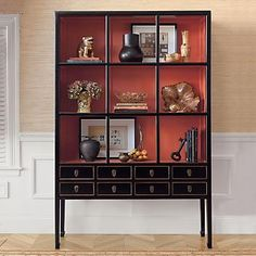 Chinese etagere might be a good color scheme for my china cabinet