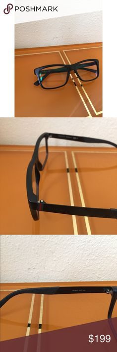 GUCCI Prescription glasses for men Gucci prescription glasses made of acetate plastic front with the temples made of metal. It features Gucci logo on the temple. Rectangular shape. This shape goes well with almost all face shapes but they look particularly becoming on round faces and oval. Progressive friendly eyeglasses! Size measurement 53 16 145 Gucci Accessories Glasses
