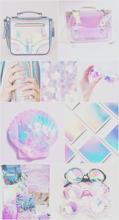 Iridescent holographic wallpaper, iPhone, android, pretty, pink, blue, purple, HD