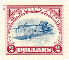 Inverted Jenny in a new version | 2013 USPS Stamps