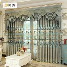 DIHIN HOME Fascinating Green Embroidered Valance,Blackout Curtains Grommet Window Curtain for Living Room Panel Living Room Decor Curtains, Kids Curtains, Cool Curtains, Rod Pocket Curtains, Curtains For Sale, Grommet Curtains, Sheer Curtains, Curtain Fabric, Blackout Curtains