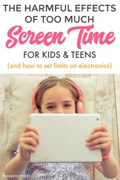The harmful effects of too much screen time for kids & the unexpected effects of daily use of electronics to the physical, mental and emotional health of kids. How to set limits with screen time and limits with electronics without a battle. Gentle Parenting, Parenting Teens, Parenting Advice, Screen Time For Kids, Mental And Emotional Health, Mentally Strong, Christian Parenting, Child Safety, Baby Hacks