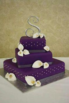 Calla Lilies in Purple cake
