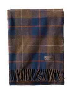Pendleton 'Thomas Kay' Wool Throw & Carrier available at Pendleton Woolen Mills, Cozy Blankets, Dot And Bo, Plaid Pattern, Decorative Throw Pillows, Pure Products, Fabric, Style, Bedding