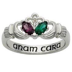 Sterling Silver Couples Claddagh Ring- #PersonalizedGifts #Irish #CladdaghRing
