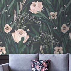 Fairy Wallpaper, Waves Wallpaper, Spring Wallpaper, Wood Wallpaper, Wallpaper Size, Self Adhesive Wallpaper, Wallpaper Roll, Peel And Stick Wallpaper, Black Floral Wallpaper