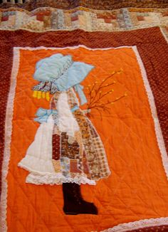 Vintage Handmade Holly Hobbie Wall Hanging / Lap by NostalgicHome, $150.00