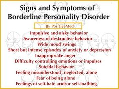 Signs of Borderline Personality Disorder- Borderline personality disorder (BPD) is a mental health disorder that generates significant emotional instability. This can lead to a variety of other stressful mental and behavioral problems. Mental Health Disorders, Mental Health Issues, Mental Health Awareness, Boarderline Personality Disorder, Borderline Personality Disorder Traits, Personality Quotes, Personality Psychology, How To Control Emotions, Bipolar Disorder
