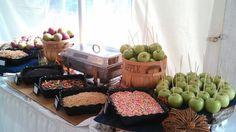 Waterville Valley Resort Weddings | Carmel apple bar for an October wedding