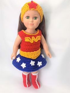 Fantastic diy decor hacks are available on our site. Crochet Doll Clothes, Girl Doll Clothes, Crochet Dolls, Girl Dolls, Ag Dolls, Crochet Crafts, Barbie Clothes, Crochet Ideas, Baby Clothes Patterns