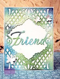 By: Wendy Price for Crafter's Companion.  Die'sire Create a Card- Friend   #crafterscompanion