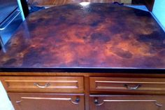 Concrete Countertop Burco Surface & Decor Stained & polished concrete counterter
