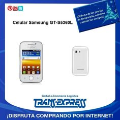 Samsung GT-S5360L Galaxy 3G con sistema operativo android full touch. TransExpress compras en internet en El Salvador. Costo aprox $ $167.24 http://amzn.com/B00766BFHS