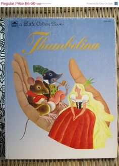 "Vintage Little Golden Book ""Thumbelina"" by Hans Christian Andersen and Illustrated by Gustaf Tenggren"