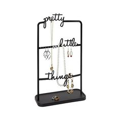 Umbra Pretty Little Things White Jewelry Stand ($20) ❤ liked on Polyvore…
