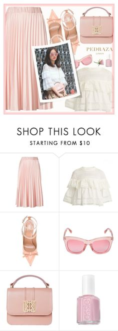 """Neutral looks with PEDRAZA"" by joliedy ❤ liked on Polyvore featuring P.A.R.O.S.H., RED Valentino, Markus Lupfer and Essie"