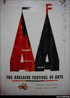 Inspired by the success of the Edinburgh Festival, the first Adelaide Festival of Arts was held in March 1960 and was the result of a collaboration between University of Adelaide music professor John Bishop and Advertiser Managing Director Lloyd Dumas.   Highlights of the inaugural program included a number of symphonic performances, the Dave Brubeck Quartet, a production of TS Eliot's Murder in the Cathedral and the first Writers' Week.