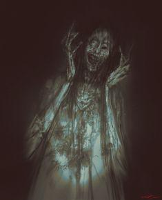 Day 27: Likhoradka Gothic Fantasy Art, Dark Fantasy, Arte Horror, Horror Art, Kopf Tattoo, Creepy Drawings, Alone In The Dark, Satanic Art, Dope Cartoon Art