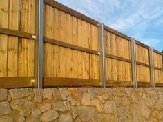 Acoustic fence with 150x100 steel posts