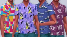 Bowling Shirt Recolor - 28 Bold Patterns - Sims 4 Updates -♦- Sims 4 Finds & Sims 4 Must Haves -♦-