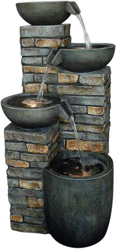 Fountain, Outdoor Decor, Home Decor, Water Games, Decoration Home, Room Decor, Water Fountains, Home Interior Design, Home Decoration