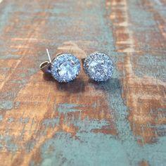 Swarovski Crystal Earrings Gorgeous!!  18k white gold filled. Jewelry Earrings