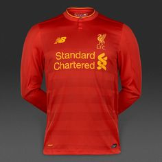 New Balance Liverpool FC 16/17 Home LS Jersey - High Risk Red