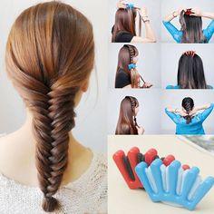 1pcsTwist Styling Hair Braider ,Professional Sponge Braid Tool Holder Clip,DIY French Style Hair Braiding Tool Y2