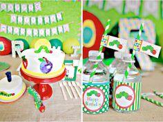 The Very Hungry Caterpillar 1st Birthday Party via Kara's Party Ideas - www.KarasPartyIdeas.com