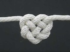 Celtic Heart Knot video presented by J. D. Lenzen of FusionKnots.com. He has an excellent video on his Tying It All Together Youtube channel, showing how to tie this knot with a single rope. I recommend watching this video to see the knot in action before trying to tie the knot on the card. This is his video tutorial: