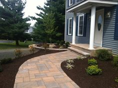 Small Porch, Porch Columns Front Porch Lehigh Lawn & Landscaping Poughkeepsie, NY