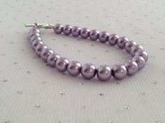 Purple Pearl Bracelet Purple Wedding Purple door CherishedJewelryCo, $12.00