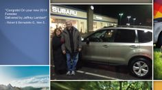 Dear Robert & Bernadette Garino   A heartfelt thank you for the purchase of your new Subaru from all of us at Premier Subaru.   We're proud to have you as part of the Subaru Family.